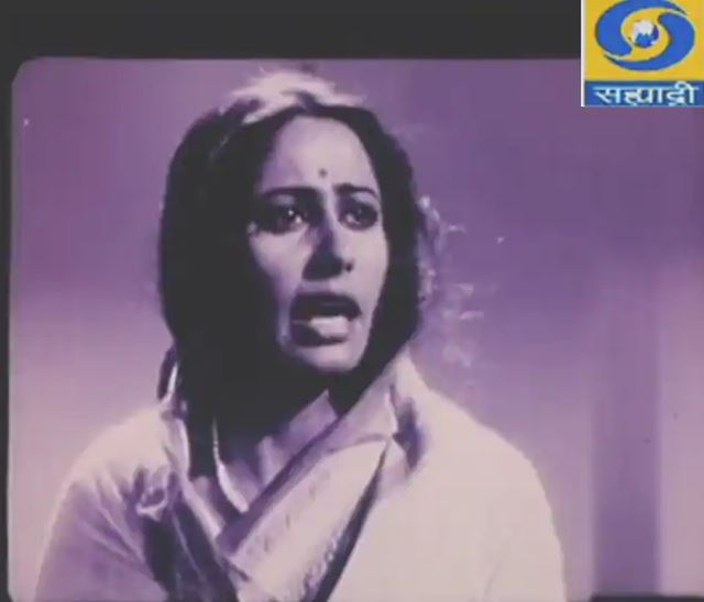 Smita while working as a newsreader for the first time on camera