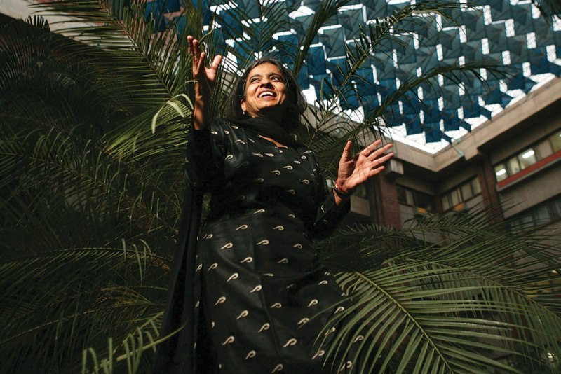 Sunita Narain on the cover page of a renowned magazine in India
