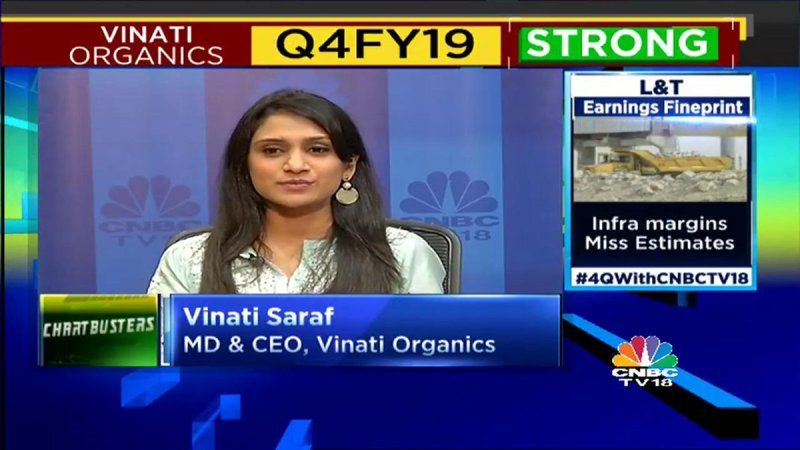 Vinati on an Indian Business News channel