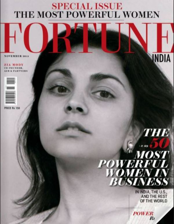 Zia Mody on the cover page of Fortune India Magazine