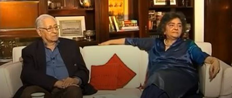 Zia Mody with her father Soli Sorabjee