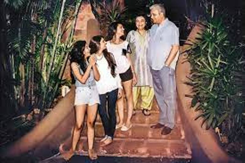 Zia Mody with her family