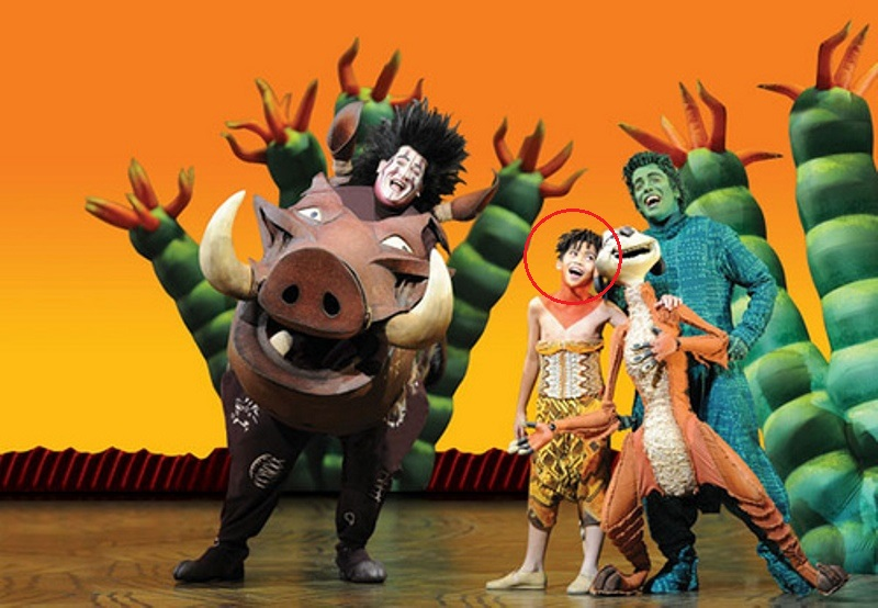 Amir Wilson in the musical play The Lion King (2015)