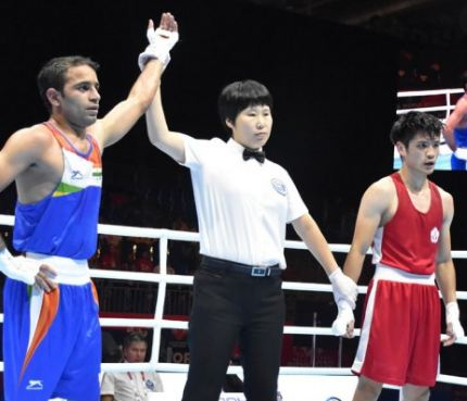 Amit Panghal in World Boxing Championships