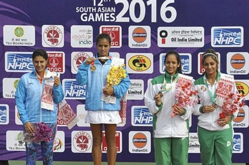 Ankita won the gold medal in 2016 in singles in South Asian games