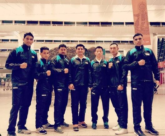 Ashish Kumar with team India during his first International event