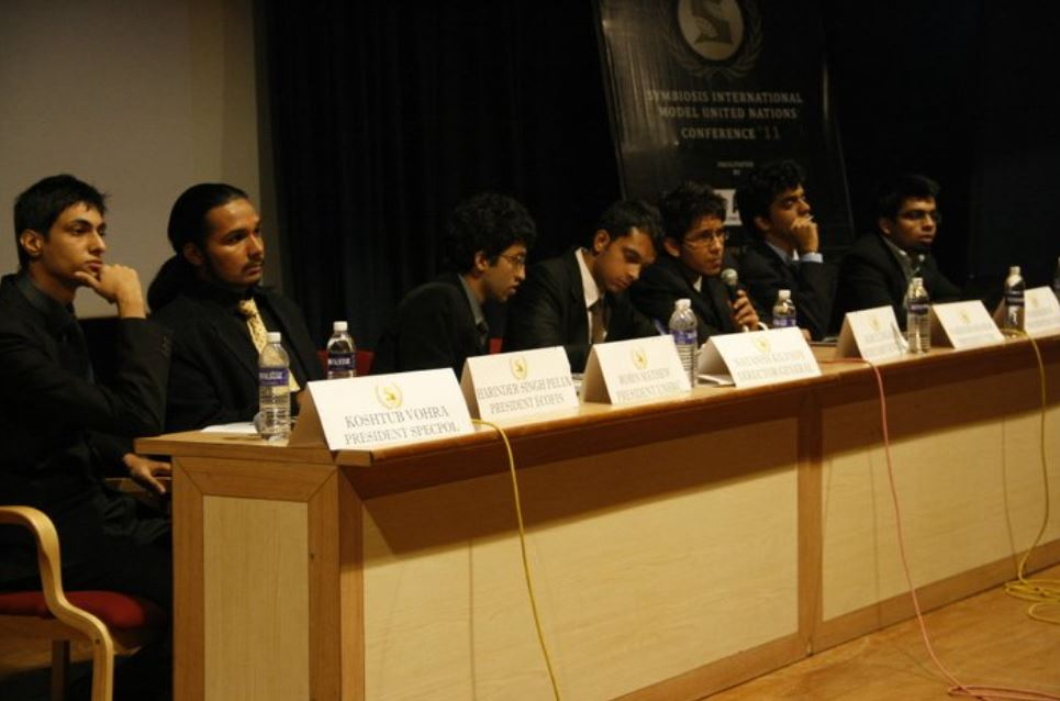 Atish Mathur during Symbiosis International Model United Nations Conference