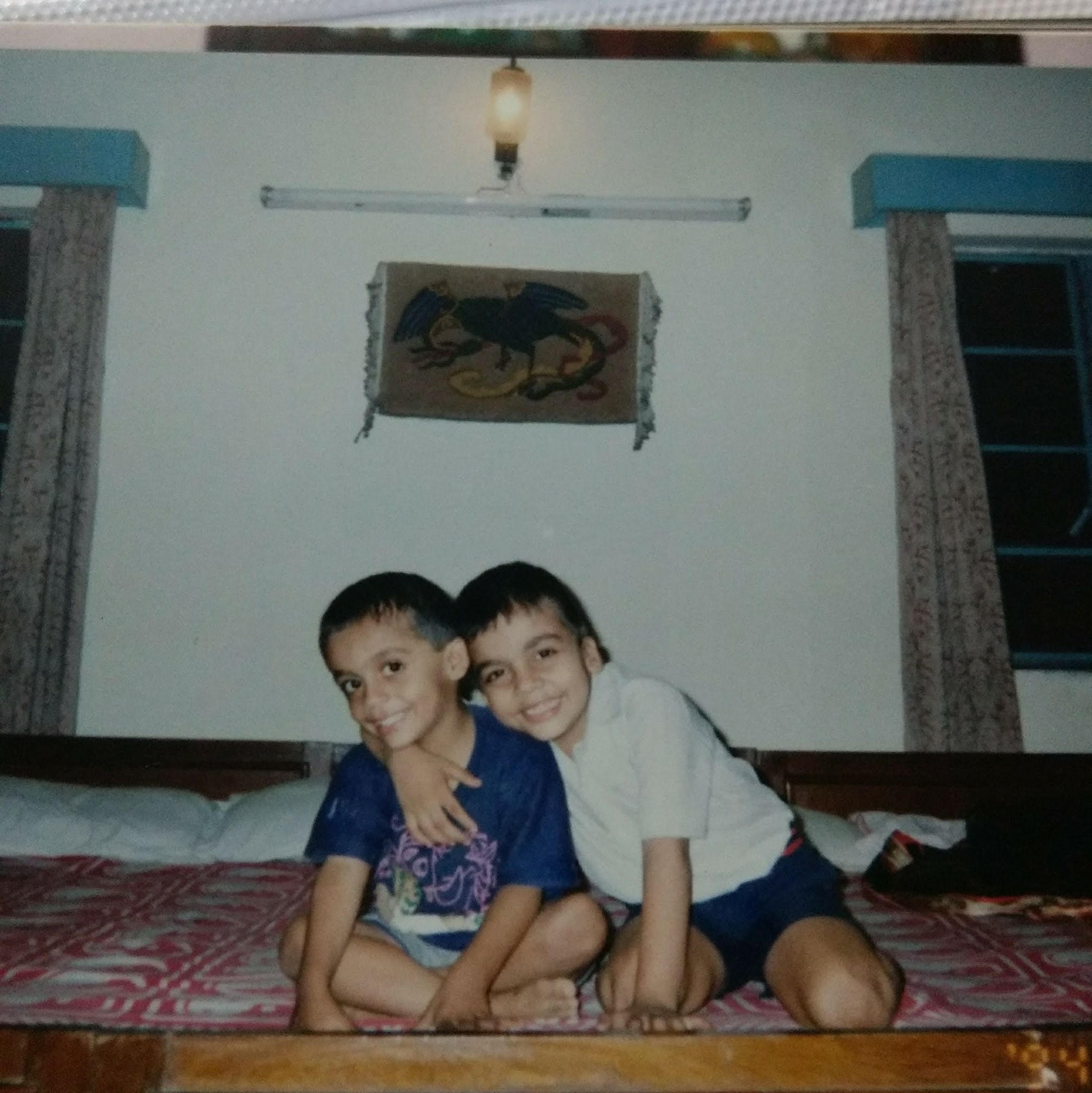 Atish Mathur in childhood with his brother