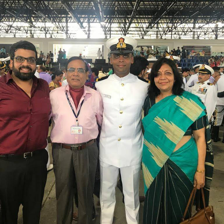Atish Mathur with his family