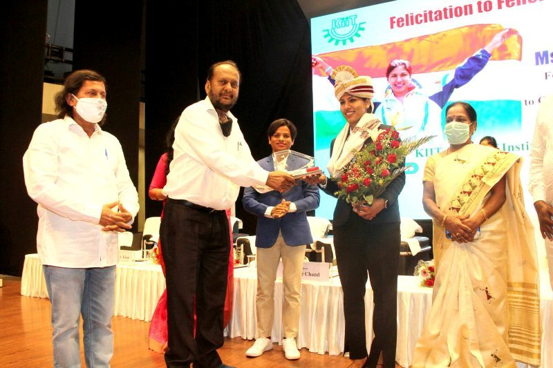 Bhavani Devi honoured by KIIT for her selection in Tokyo Olympics