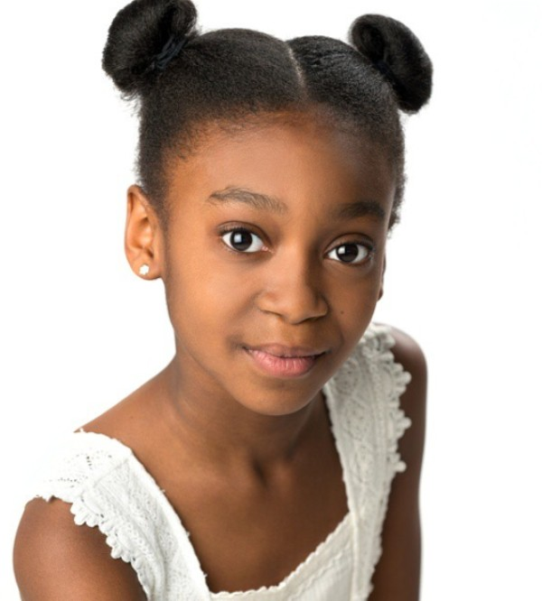 Childhood picture of Shahadi Wright Joseph from her first professional photoshoot
