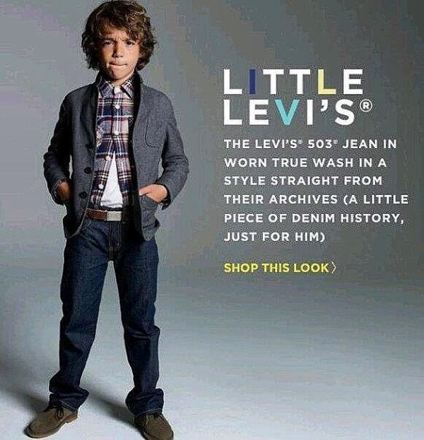 David Iacono campaigning for Levi's Little