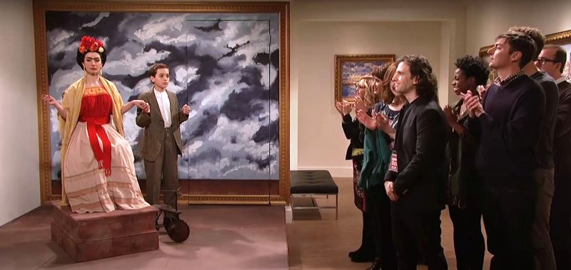 David Iacono portraying a famous painting in Saturday Night Live (2014)