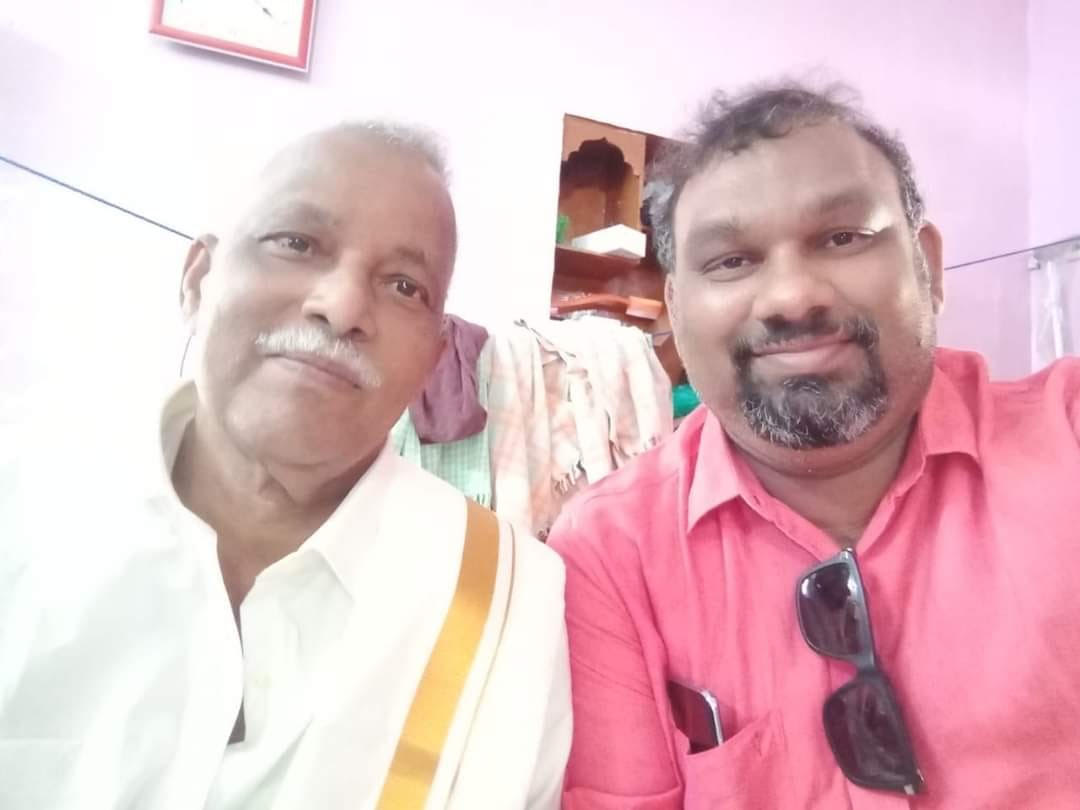 Kathi Mahesh with his father