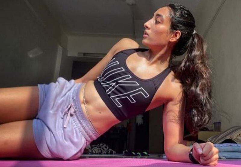 Maana Patel's workout picture