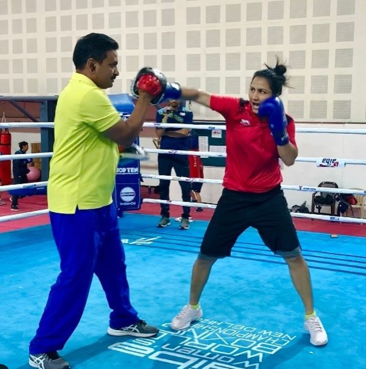 Pooja Rani during her practise session