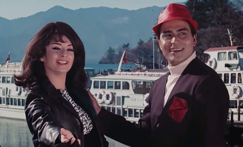 Saira Banu in a still from the movie Aman