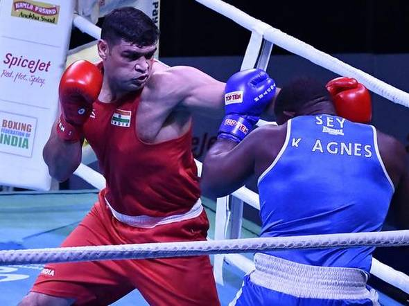 Satish Kumar in a boxing match