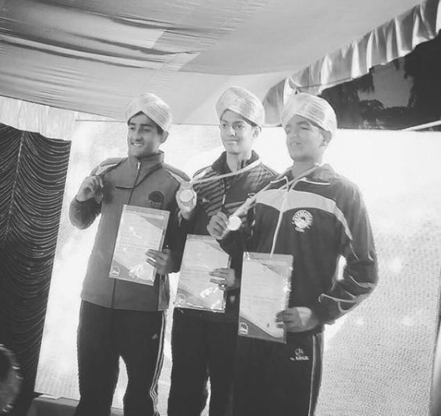 Srihari Nataraj awarded with his first national level gold medal