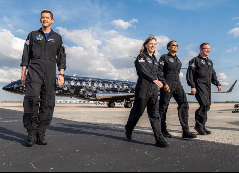 The four crew members of SpaceX's mission 2021