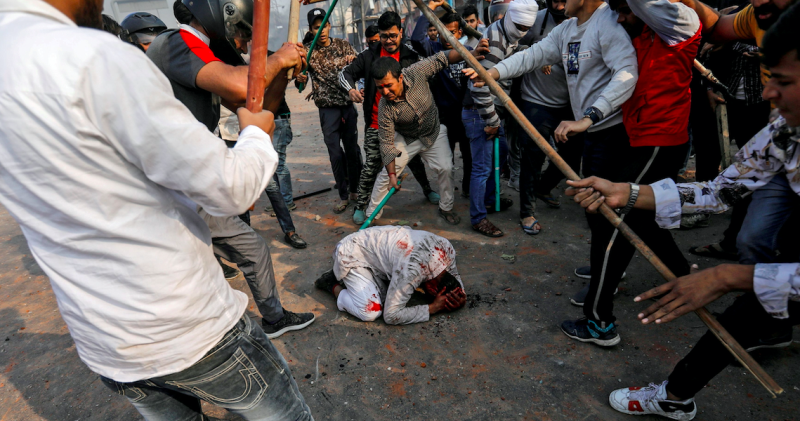 The photo that was featured by Reuters clicked by Danish during the Delhi riots in 2020