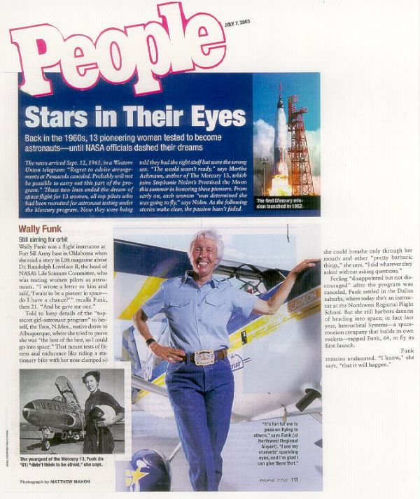 Wally Funk featured in People magazine