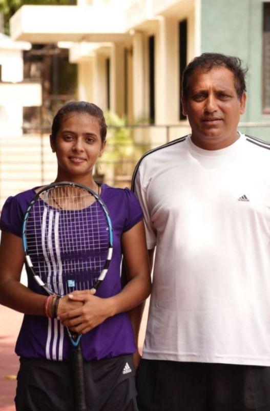 Ankita with her coach Hemant Bendre at the PYC Gymkhana in Pune