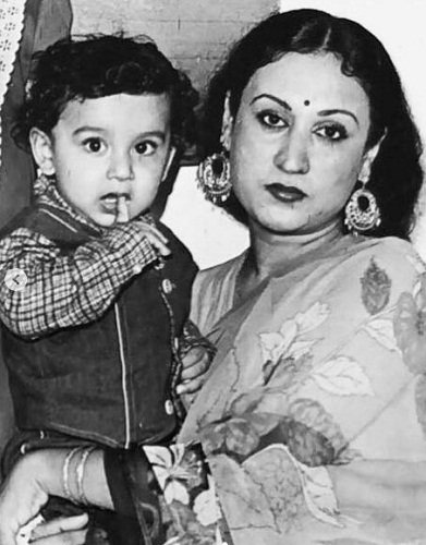 A childhood picture of Karan Nath with his mother