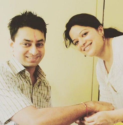Arzoo Govitrikar with her brother