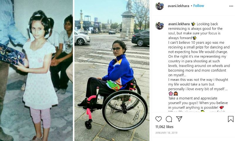 Avani's Instagram heartfelt post while comparing her life's ten years before and after her accident