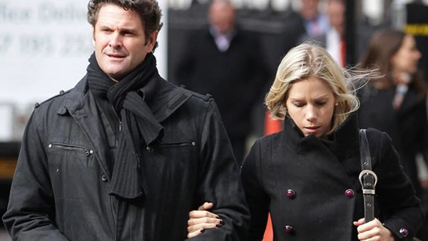 Chris Cairns with his wife, Melanie Cairns