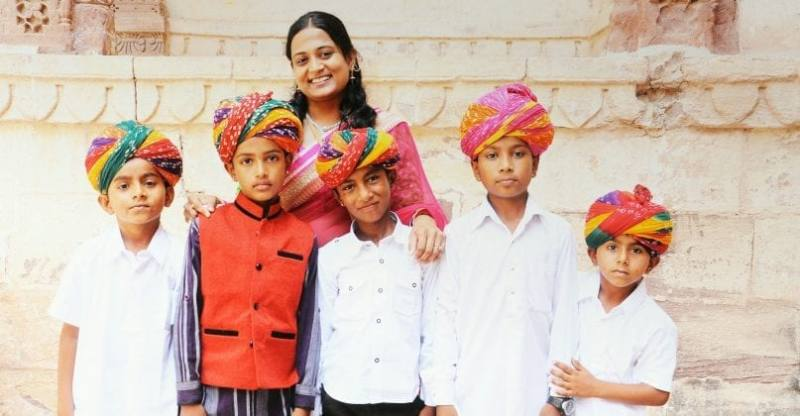 Dr. Kriti with rescued children
