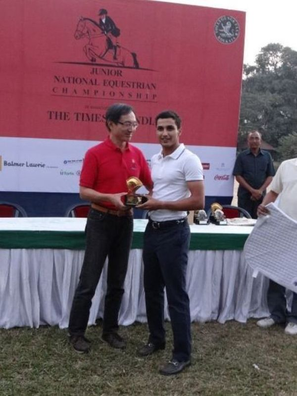 Fouaad Mirza being honored at the Junior National Equestrian Chanpionship 2014