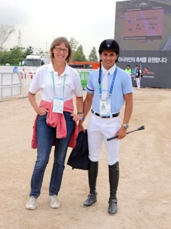 Fouaad Mirza with his coach