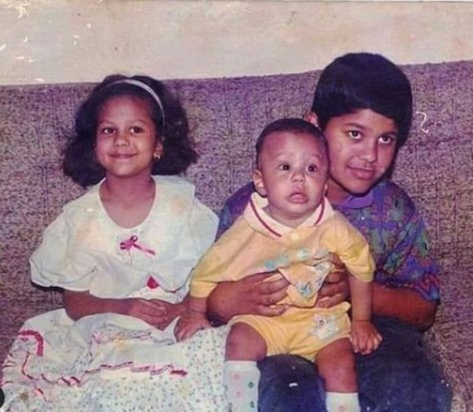 Jinaan Hussain's (extreme left) childhood picture with her siblings
