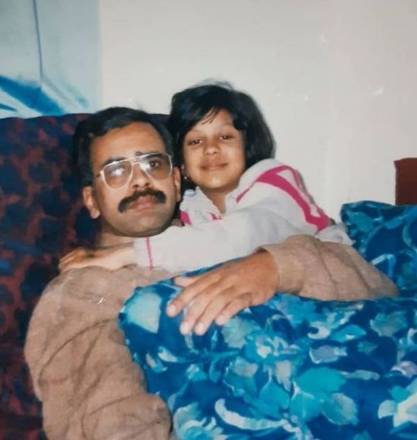 Jinaan Hussain's picture with her father