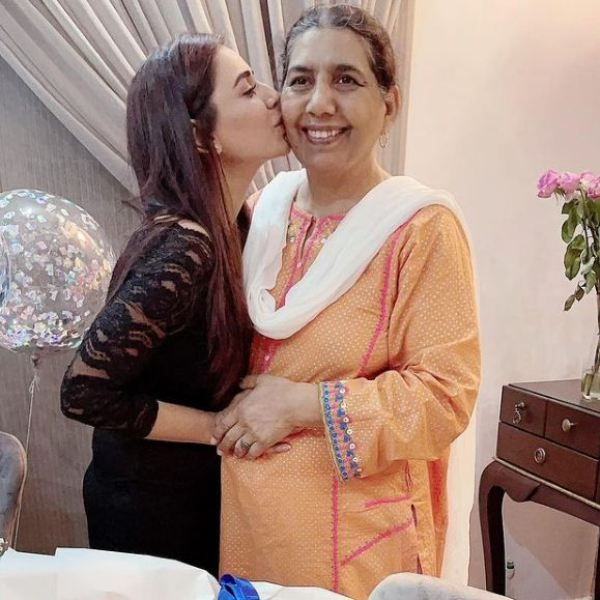 Kiran Haq with her mother