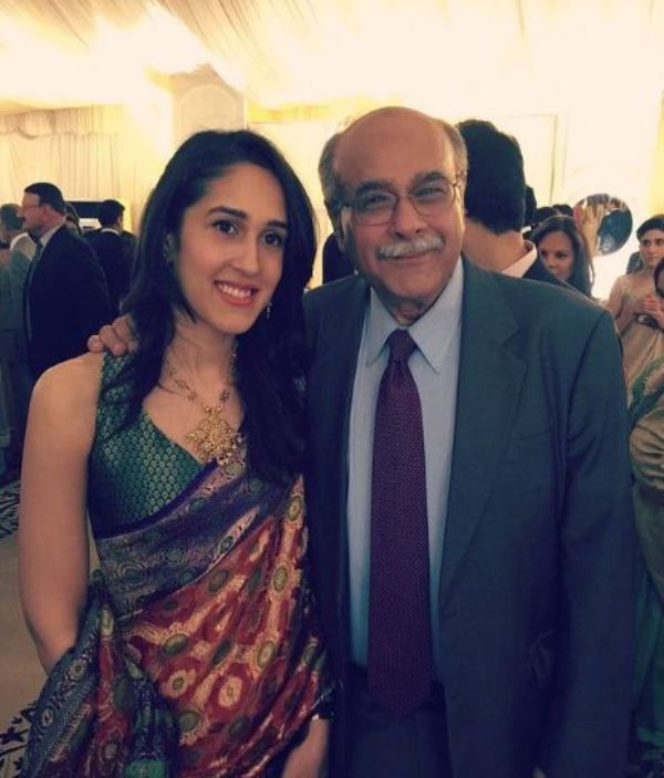 Mira Sethi with her father