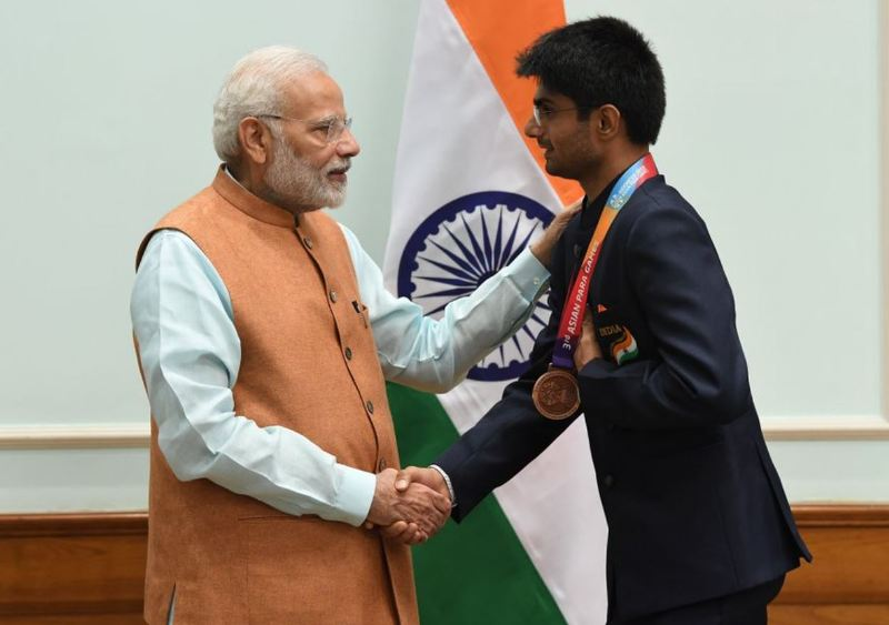 Prime Minister Narendra Modi while congratulating Suhas on winning bronze medal in 2018