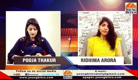 Ridhima Arora as a guest on Young Bites