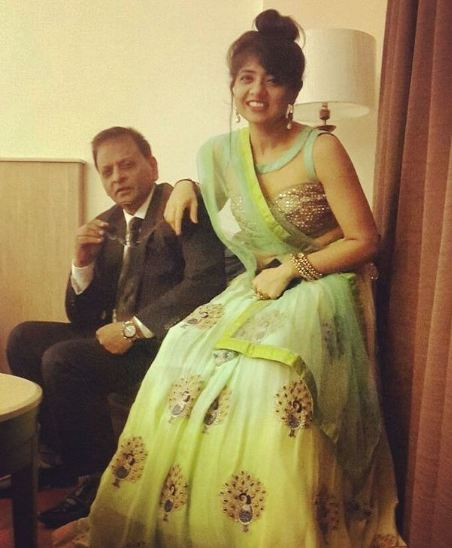Ridhima Arora with her father