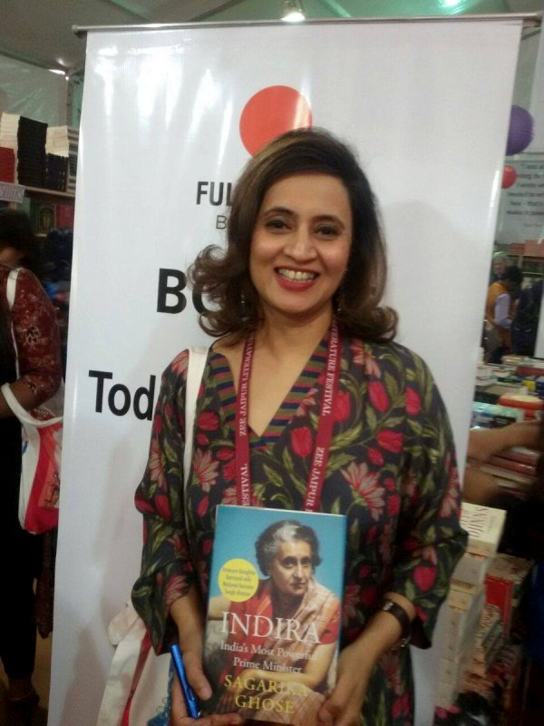 Sagarika Ghose with her book 'Indira: India's Most Powerful Prime Minister'