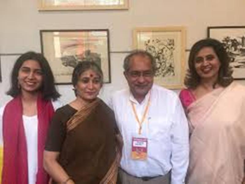 Sagarika Ghosh (extreme right) with her parents