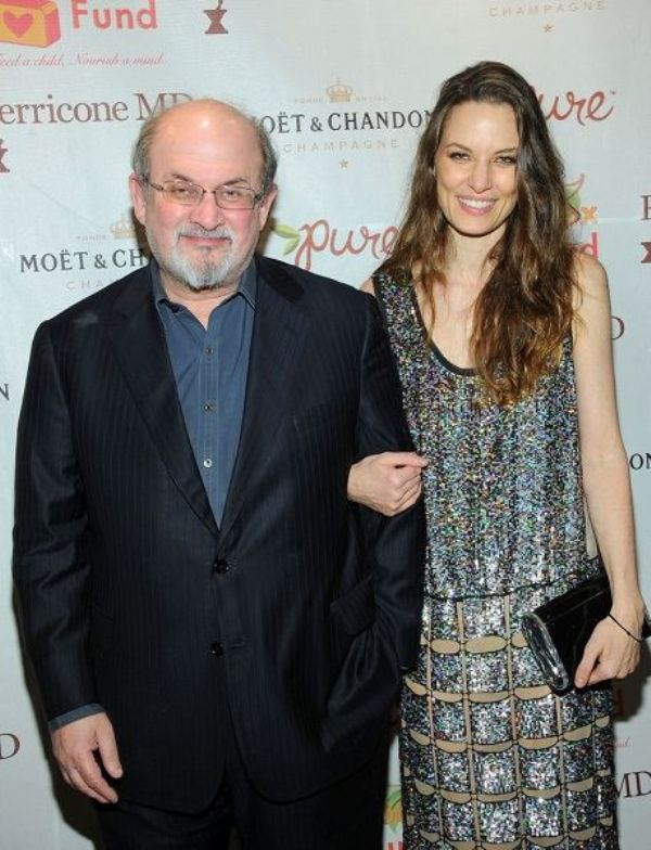Salman Rushdie with Topaz Page Green