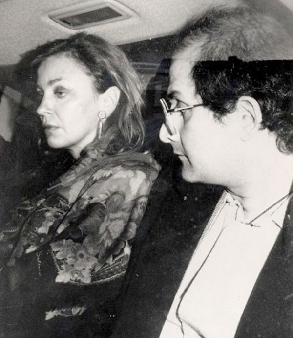 Salman Rushdie with his second wife Marianne Wiggings