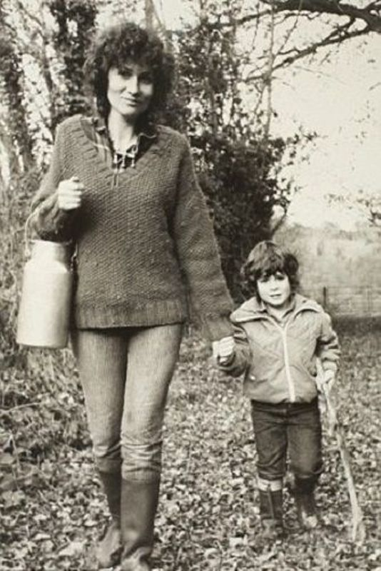 Salman Rushdie's first wife Clarissa Luard and son