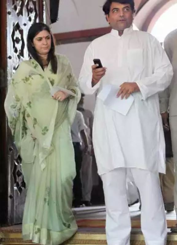 Sonia Singh with her husband