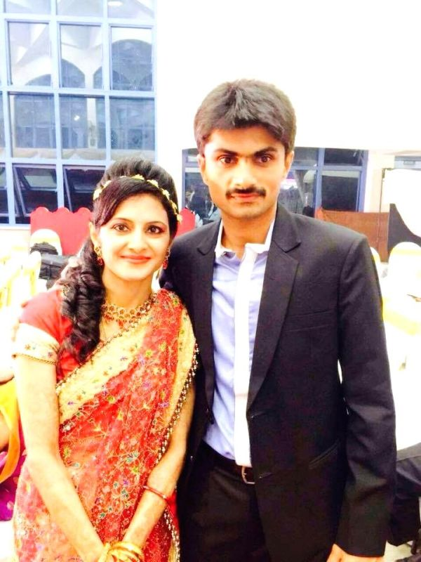 Suhas with his wife Ritu