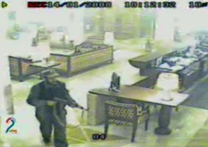 A CCTV footage of Serena Hotel attack on 14 January 2008