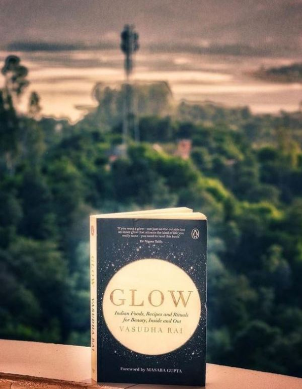 A book by Vasudha Rai titled Glow: Indian Foods, Recipes and Rituals for Beauty, Inside and Outside